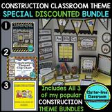 CONSTRUCTION THEME Classroom Decor EDITABLE - 3 product bundle