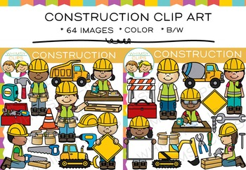 Construction Clip Art: Dramatic Play and Community