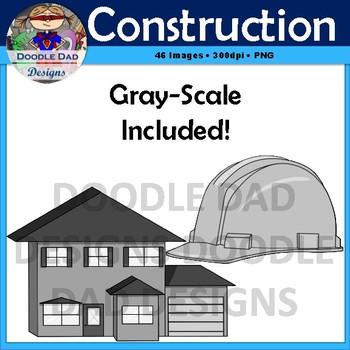 Construction clip art crane hammer blueprint worker foreman house malvernweather Images
