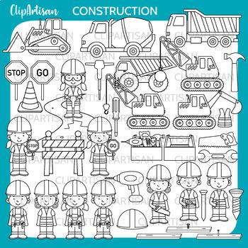 Construction Clip Art   Trucks and Diggers Clipart