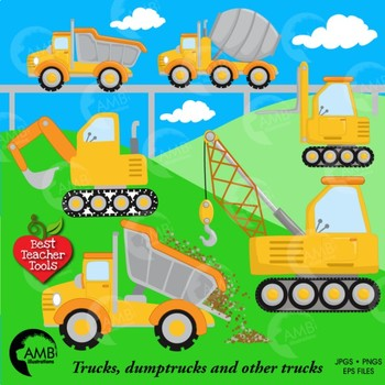 Construction Clipart, Road Work Clipart, {Best Teacher Tools} AMB-1414