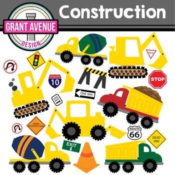 Construction Clipart - Vehicles Clipart - Construction Vehicles