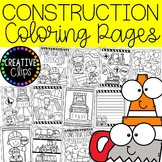 Construction Coloring Pages (+writing papers)