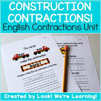 English Contractions Lesson - Construction Contractions!