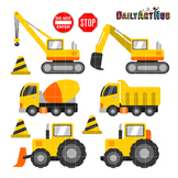 Construction Crew Clip Art - Great for Art Class Projects!