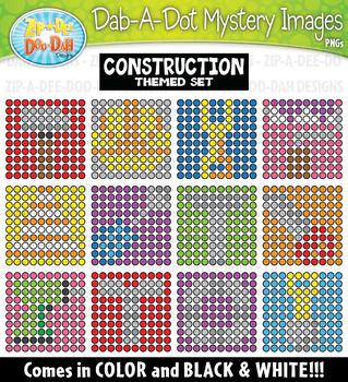 Construction Dab-A-Dot Mystery Images Clipart {Zip-A-Dee-Doo-Dah Designs}