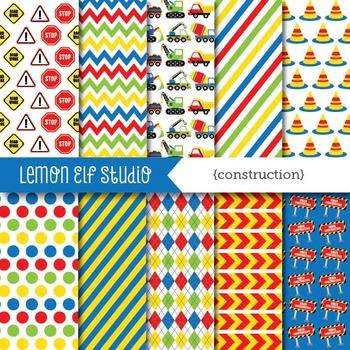 Construction-Digital Paper (LES.DP25B)