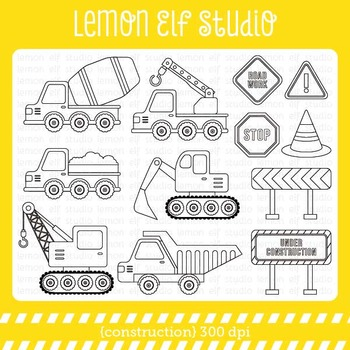 Construction-Digital Stamp (LES.DS25)