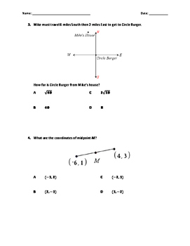 Geometry - Construction, Distance, Midpoint, Slope and Logic (Test)