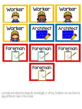 Construction Dramatic Play for Preschool, PreK, and Kindergarten!