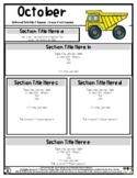 Construction Dump Truck - Editable Newsletter Template - #