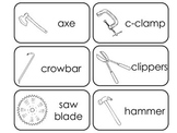 Construction Equipment printable Picture Word Flash Cards.
