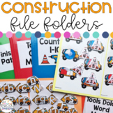 Construction File Folders for Special Education