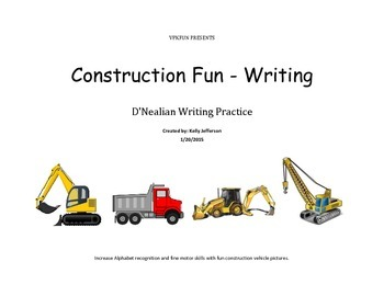 Construction Fun Letter Writing