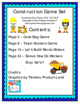Construction Game Set
