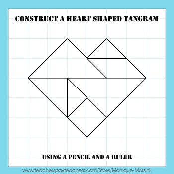 Tangram Construction – How to construct a heart shaped tangram 1