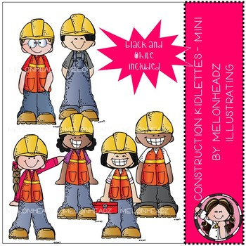 Construction Kidlettes clip art - Mini - by Melonheadz