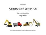 Construction Letter Tile Fun