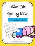 Construction Letter Tile Spelling Mat