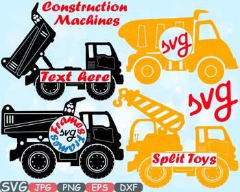 Construction Machines Circle Split Dump Trucks toy toys Cars clipart crane -652s