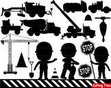 Construction Machines Clip Art Clipart school Logo monogram transporation -042s
