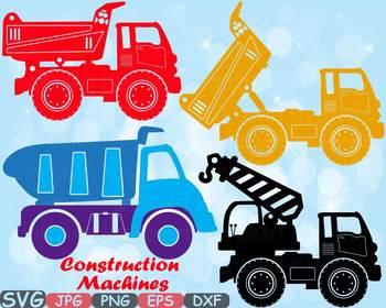 Construction Machines Dump Trucks toys Cars clipart clipar