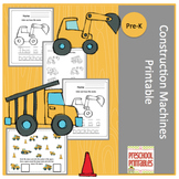 Construction Machines Printable