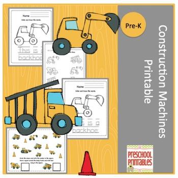 Construction Machines Printable
