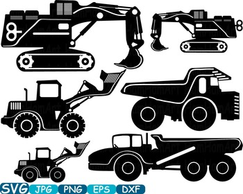 Construction Machines toy truck crane Clip Art school Logo svg monogram -321s