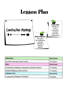 Construction Markings On A Pattern Lesson