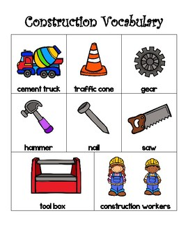 Construction Math  Bundle (Graphing, Vocabulary, Word Problems & MORE)