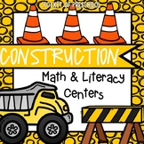 Construction Math and Literacy Centers for Preschool, Pre-K, & Kindergarten