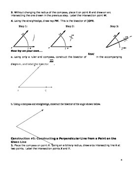 Construction Packet for Common Core Geometry