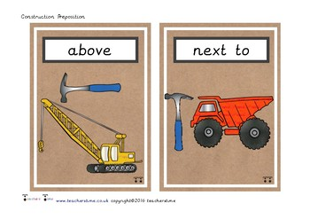 Construction Preposition Cards