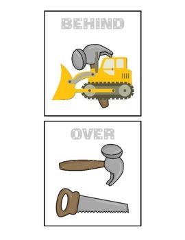 Construction Prepositions - Houghton Mifflin Preschool Theme