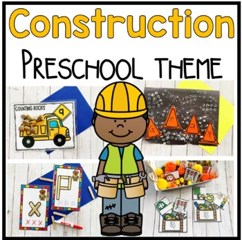 Construction Preschool  Math, Literacy, and Writing Pack