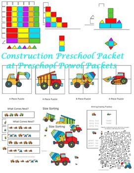 Construction Preschool Packet