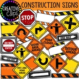 Construction Signs Clipart {Creative Clips Clipart}