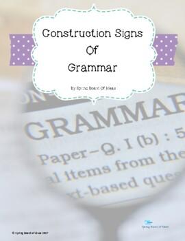 Construction Signs Of Grammar