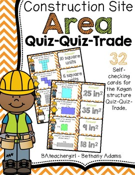 Construction Site Area (With Shapes) Quiz-Quiz-Trade Cards