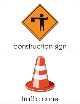 Construction Site BUNDLE (set I, II, III) Picture Flashcards