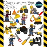 Construction Site Clipart {L.E. Designs}