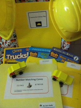 Construction Site-Take Home Literacy Bag