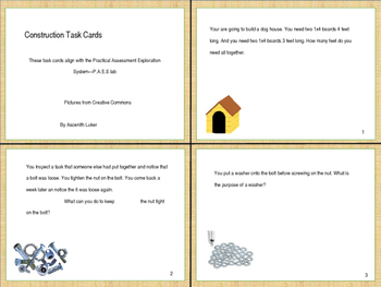 Life Skills: Constructions Skills Task Cards for Special Education