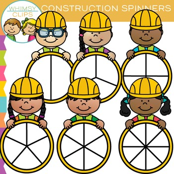 Construction Spinners Clip Art
