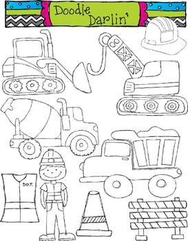 Construction Stamps Clipart Set