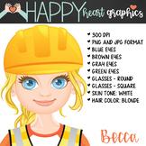 Construction Student / Female / Girl / Builder / Clipart –