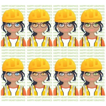 Construction Student / Female / Girl / Builder / Clipart – Happy Heart Graphics