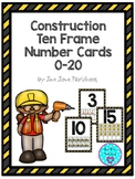 Construction Ten Frame Number Cards 0-20
