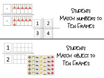 Construction Ten Frames and Ten Frames Centers